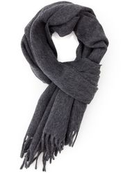 A.P.C. | Wool/cashmere Scarf In Grey | Lyst