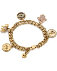 Juicy Couture - Pre Assembled Gypset Charm Bracelet Gold - Lyst