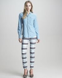 See By Chloé Check Print Straight Leg Jeans - Lyst
