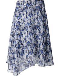 Prabal Gurung Printed Asymmetric Skirt - Lyst
