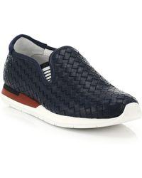 Bottega Veneta Intrecciato Leather Slip-On Sneakers - Lyst