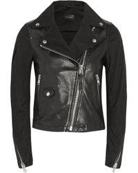 Mackage Minella Leather-paneled Denim Jacket - Lyst