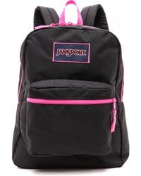 Jansport Classic Overexposed Backpack  Black and Fluorescent Pink - Lyst