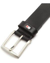 Tommy Hilfiger Danton 3.5 Black Leather Belt - Lyst