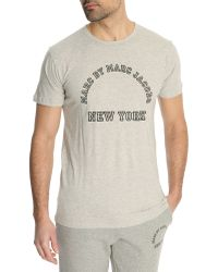Marc By Marc Jacobs Grey Mixed Basic Tshirt - Lyst