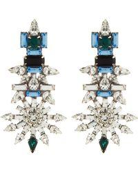 Dannijo Blue Everly Earrings - Lyst