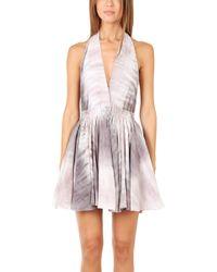 Loveshackfancy Moonlight Tide Halter Mini Dress - Lyst