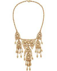 Ben-Amun - Dreamcatcher Statement Necklace - Gold - Lyst
