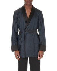 La Perla Jacquard Silk-blend Robe - Blue