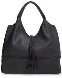 Big Buddha Faux-Leather Tasselled Hobo - Black