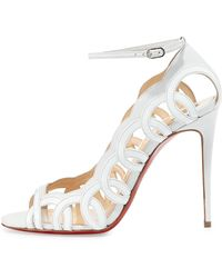 christian louboutin men spikes - Christian louboutin Senora Patent T-strap Red Sole Sandal in Black ...