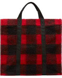Étoile Isabel Marant - Red Plaid Wool Rusty Tote - Lyst