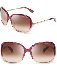 Marc By Marc Jacobs Oversized Sunglasses purple - Lyst