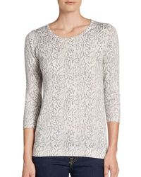 Joie Riana Printed Pullover - Lyst