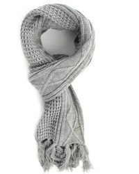 Diesel Kudleep Black Cable Knit Scarf - Lyst