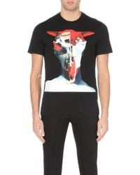 Givenchy Skull + Statue Cuban-Fit Cotton-Jersey T-Shirt - For Men - Lyst
