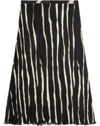Roberto Cavalli Zebraprint Silk Crepe De Chine Skirt - Lyst