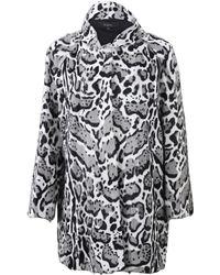 Rizal - Snow Leopard Fur Coat - Lyst
