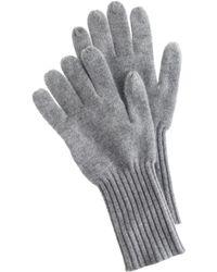 J.Crew Gray Cashmere Gloves - Lyst