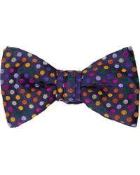 Duchamp Polkadot Silk Jacquard Bow Tie - Lyst