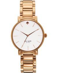 Kate Spade Gramercy Mother-Of-Pearl & Rose Goldtone Stainless Steel Bracelet Watch pink - Lyst