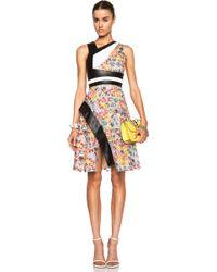 Prabal Gurung Asymmetric Cut Out Flared Poly Dress - Lyst