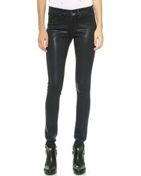 Rag & Bone Coated Legging Jeans  Coated Navy - Lyst