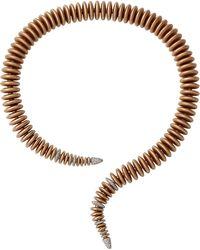 Mattia Cielo - Bruco Diamond Coil Collar Necklace - Lyst