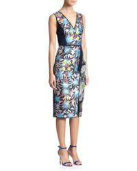Peter Pilotto Benicia Embellished Floral Sheath multicolor - Lyst