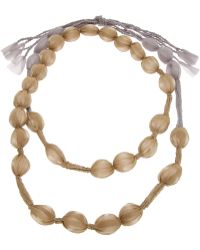 Pleats Please Issey Miyake - Covered Bead Necklace - Lyst