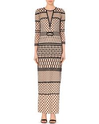 Temperley London Tulle Embroidered Long Dress - Lyst