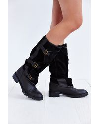 Jeffrey Campbell Swash Belted Panel Tall Boot - Lyst