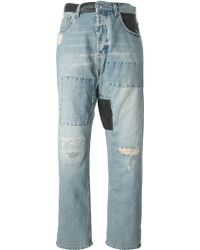 McQ by Alexander McQueen Patchwork Boyfriend Jeans - Lyst
