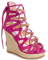 Steve Madden 'Theea' Caged Wedge Sandal - Lyst