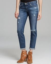 AG Adriano Goldschmied Jeans - The Stilt Roll-Up In 18 Years Fly Away - Lyst