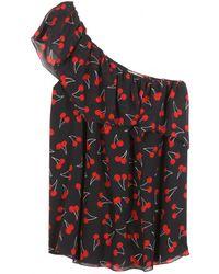 Saint Laurent Printed Silk Top - Lyst