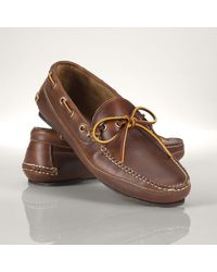 Polo Ralph Lauren Leather Bayley Boat Shoe - Lyst