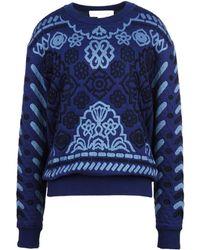 Stella McCartney Navy Denim Jacquard Sweatshirt - Lyst