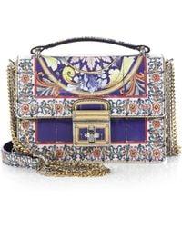 Dolce & Gabbana Italian Tile Leather Shoulder Bag - Lyst