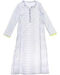 Lemlem Lemlem Printed Caftan Dress In Grey multicolor - Lyst