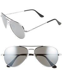 Randolph Engineering - 'concorde' 57mm Aviator Sunglasses - Chrome/ Grey Flash Mirror - Lyst