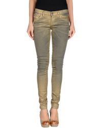 Diesel Denim Trousers gray - Lyst