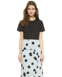 Marc By Marc Jacobs Short Sleeve Crop Top - White - Lyst