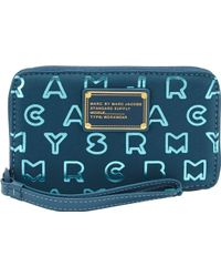 Marc Jacobs Dreamy Logo Wingman Wallet - Blue