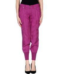 Miss Sixty Casual Trouser purple - Lyst