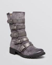 Naya - Flat Moto Boots - Darryn Buckle - Lyst
