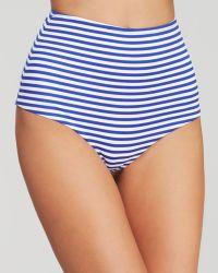 Zinke Blue Stripe High Waist Bikini Bottom