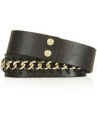 Topshop Whip Stitch Chain Belt - Lyst