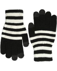 San Diego Hat Company Kng3150 Knit Gloves With Text Friendly Fingers - Black