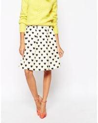 Essentiel Antwerp - Skirt In Heart Print - Lyst